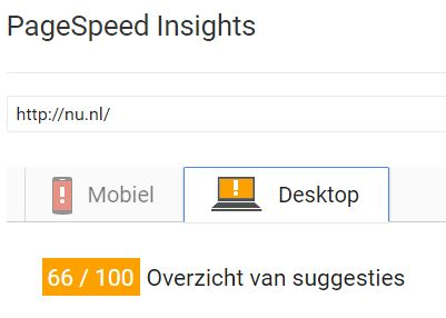 Search advertising tools Pagespeed insights nu nl