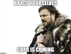 Brace Yourselves, GDPR is coming meme