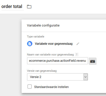 Customer Lifetime Value ecommerce.purchase.actionField.revenue.