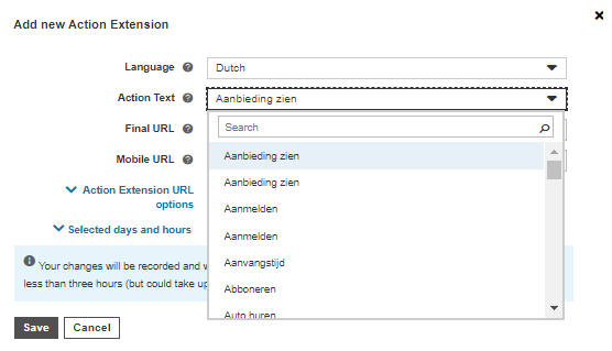 bing ads add new action extension