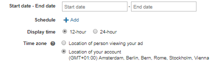bing ads start date and end date