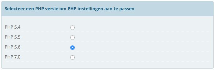 php 7 instelling